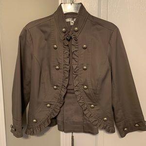 Grey Open Front Jacket
